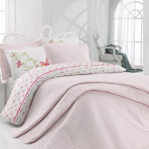 Lenjerie de pat cu cearșaf Pink, 200 x 220 cm