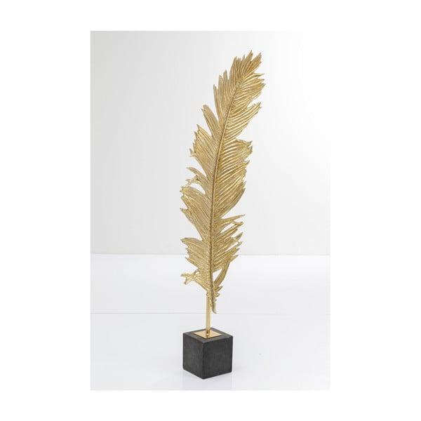 Dekorace ve zlaté barvě ve tvaru pera Kare Design Feather, 147 cm