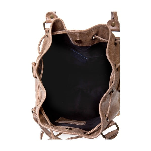 Kožená kabelka Risaga, taupe
