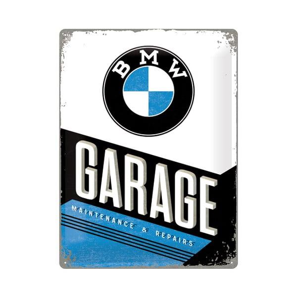 Plechová cedule BMW Garage, 30x40 cm