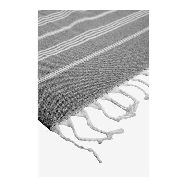 Prosop de plajă Kate Louise Cotton Collection Classic, 100 x 180 cm, negru