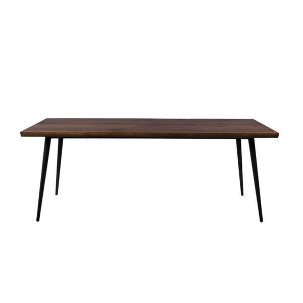 Alagon Land étkezőasztal fekete acél lábakkal, 200 x 91 cm - Dutchbone