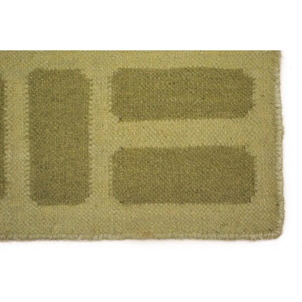 Ručně tkaný koberec Green Kilim, 120x180 cm