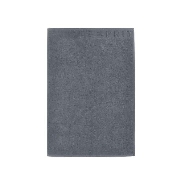 Antracitově šedá koupelnová předložka Esprit Solid, 60x90cm