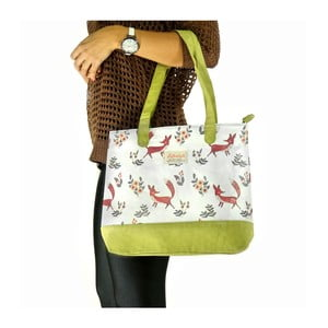 Koženková taška přes rameno Fox, zelená