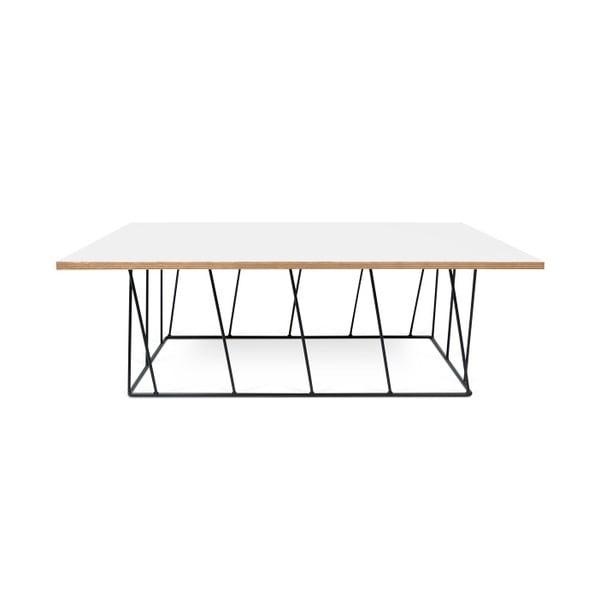 Bílý konferenční stolek s černými nohami TemaHome Helix, 120 cm