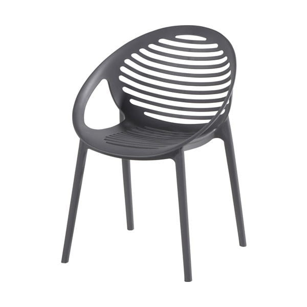 Čierna stohovateľná záhradná stolička Hartman Romeo