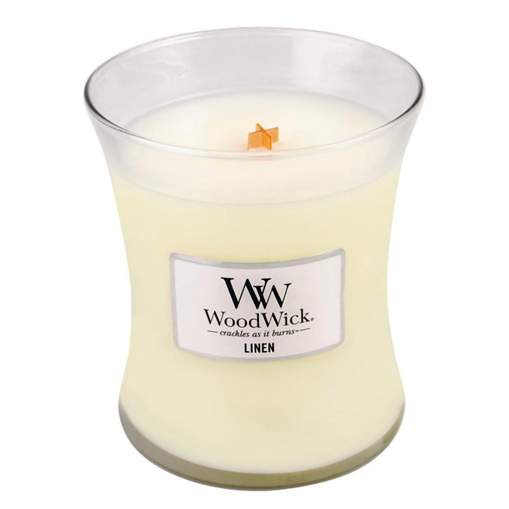 Vonná svíčka WoodWick Čisté prádlo, 60hodin hoření