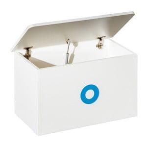Bílý box na hračky se modrými detaily KICOTI Circle