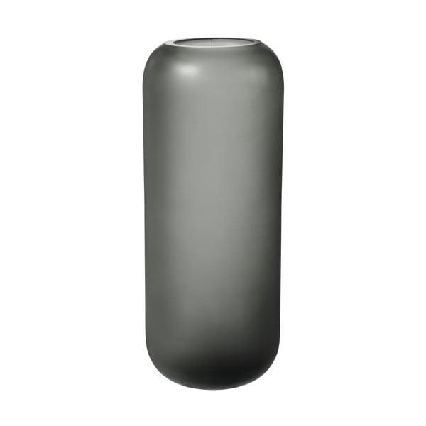 Sivá sklenená váza Blomus Bright,výška30cm