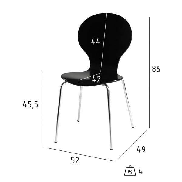 Sada 4 černých jídelních židlí Furnhouse Rudi