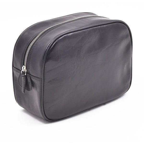 Kožená kosmetická taška Ferruccio Laconi Black