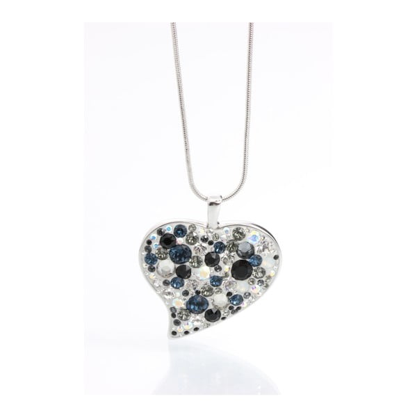 Colier Swarovski Elements Laura Bruni Rich Heart BW