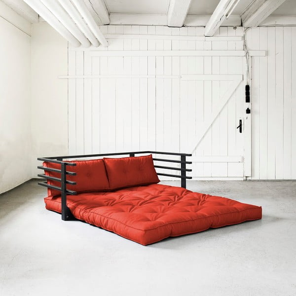 Canapea extensibilă Karup Funk Black/Red