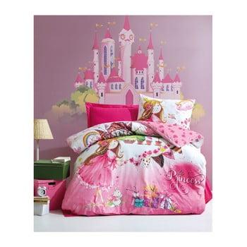 Lenjerie de pat din bumbac cu cearşaf pentru copii Angie, 160 x 220 cm imagine