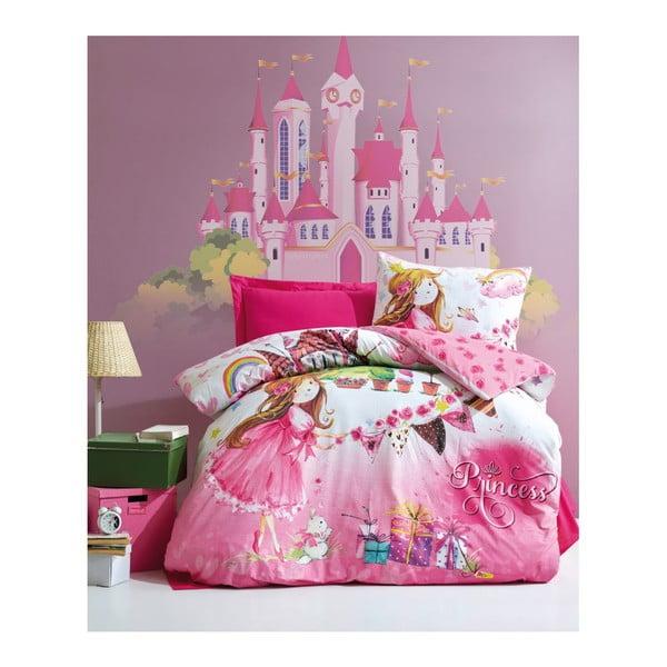Lenjerie de pat din bumbac cu cearşaf pentru copii Angie, 160 x 220 cm