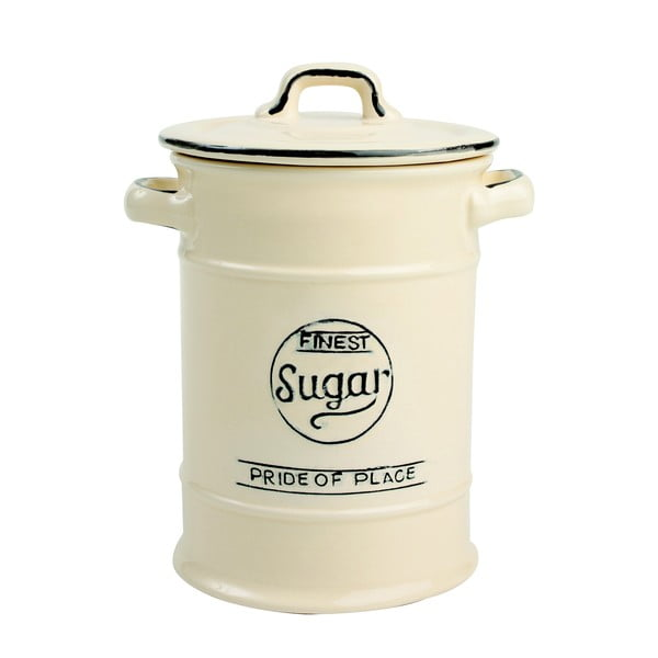 Kremowy pojemnik ceramiczny na cukier T&G Woodware Pride Of Place