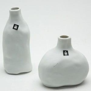Sada 2 porcelánových váz Crumpled
