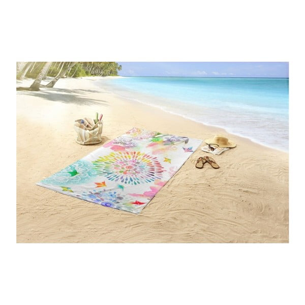 Plážová osuška s potiskem Muller Textiels Elessa, 100 x 180 cm