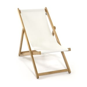 Skládací lehátko Beach, bílé