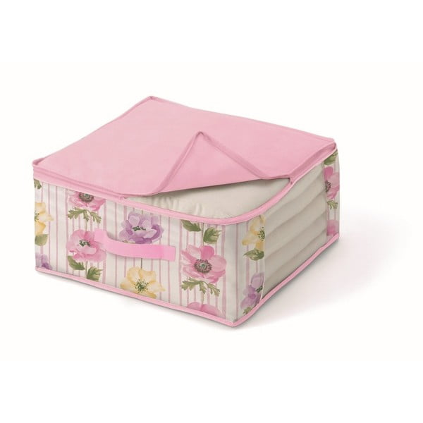 Růžový úložný box na přikrývky Cosatto Beauty, šířka45cm