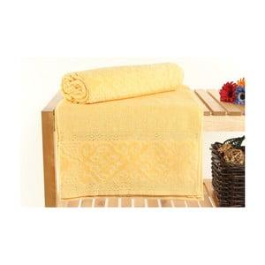 Sada 2 osušek Meltem Yellow, 70x140 cm
