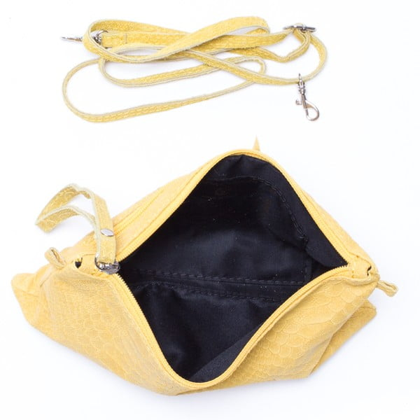 Kožená kabelka Carlita, žlutá