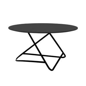 Černý stůl Softline Tribeca, Ø 75cm
