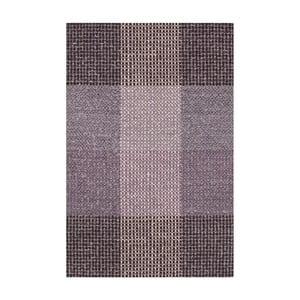 Fialový ručně tkaný vlněný koberec Linie Design Genova, 140x200cm