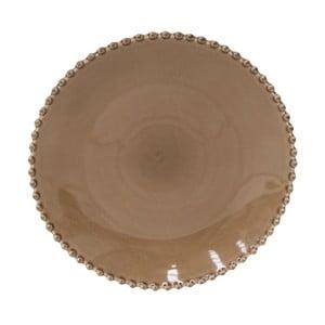 Kakaově hnědý kameninový talíř Costa Nova Pearl, ⌀28 cm