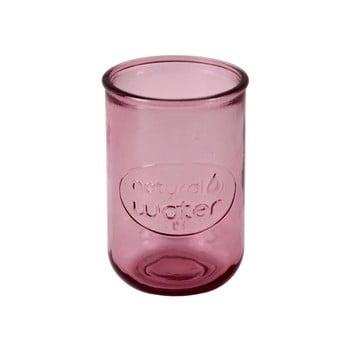 Pahar din sticlă reciclată Ego Dekor Water, 400 ml, roz închis