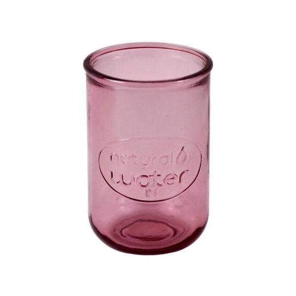 Růžová sklenice z recyklovaného skla Ego Dekor Water, 0,4 l