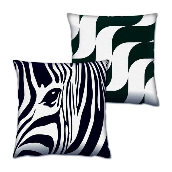 Sada 2 polštářů Zebra, 43x43 cm