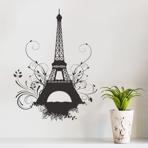 Samolepka na zeď Eiffel, 70x50 cm