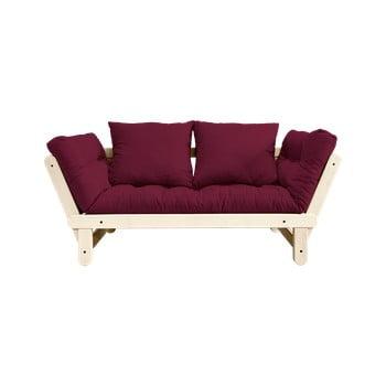 Canapea extensibilă Karup Design Beat Natural/Bordeaux