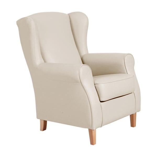 Lorris Leather Beige bézs színű füles fotel - Max Winzer