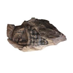 Dekorace z teakového dřeva HSM Collection Buddha