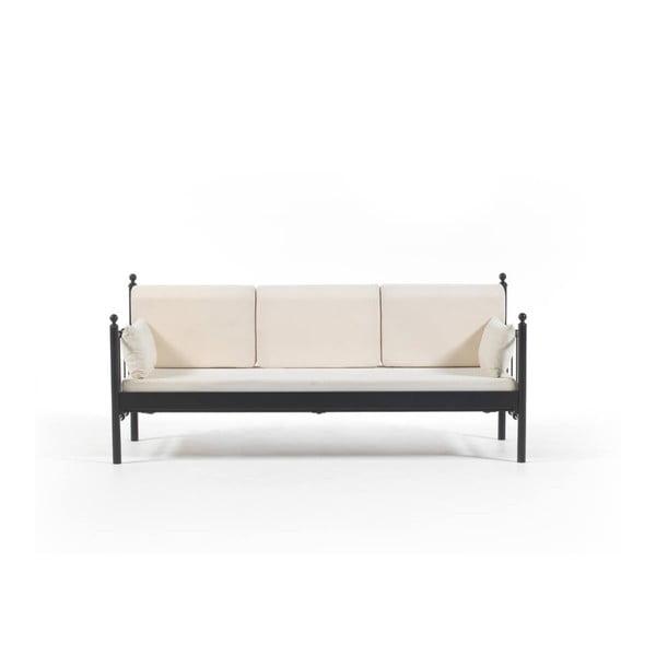 Canapea cu 3 locuri de grădină Lalas DK, 76 x 209 cm, bej-negru