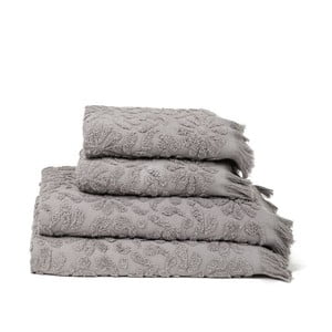 Set 4 osušek Riad Grey, 50x90 cm + 70x140 cm