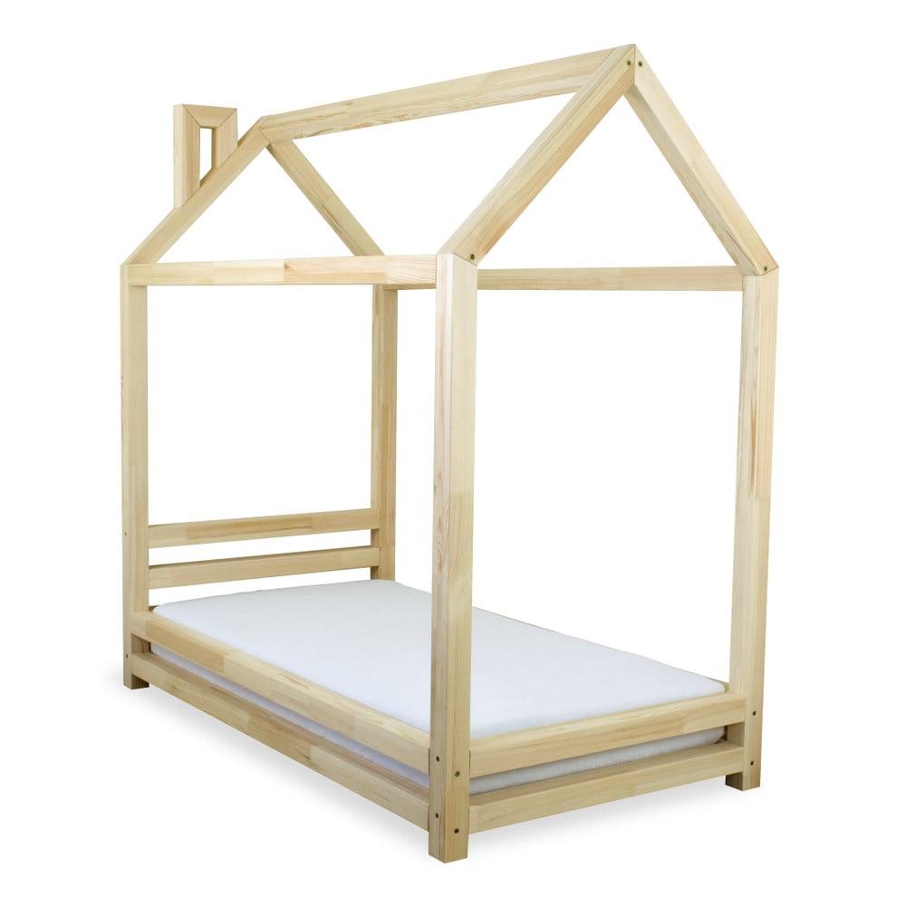 Dětská postel z lakovaného borovicového dřeva Benlemi Happy, 80 x 160 cm