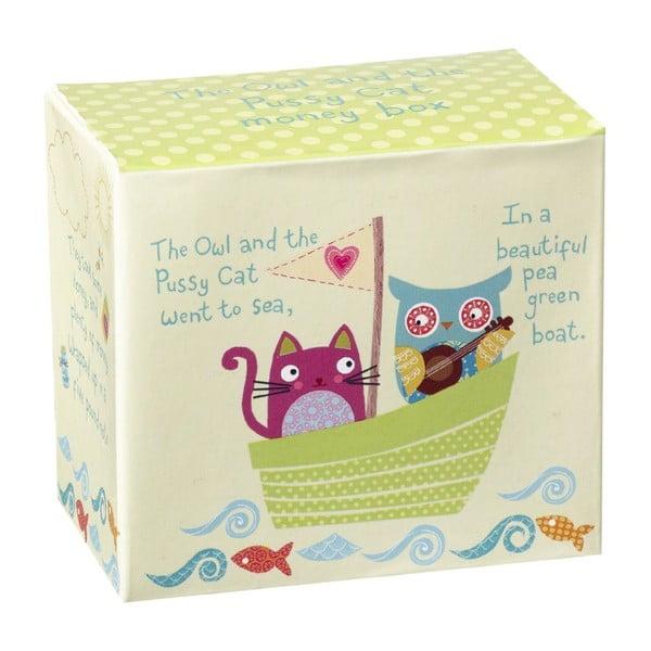 Kasička v dárkovém boxu Owl