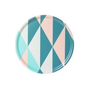 Tác s geometrickým vzorem, tyrkysový