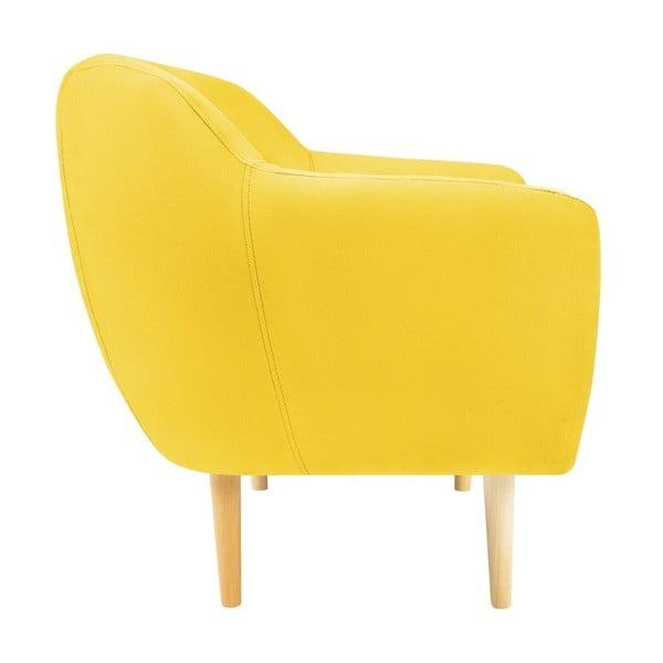 Žluté křeslo se světlými nohami Mazzini Sofas Sardaigne