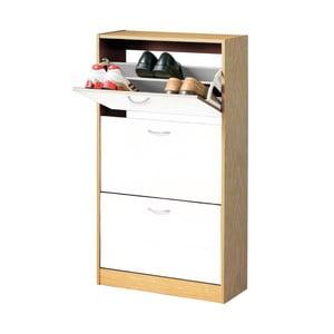 Dřevěný botník se třemi přihrádkami Premier Housewares Shoe Cupboard