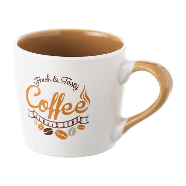 Cană din ceramică Unimasa Coffee, 230 ml, alb - bej