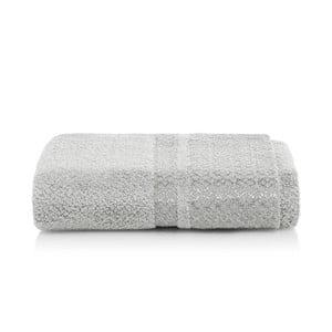 Šedý ručník z bambusových vláken Maison Carezza Genoa, 50 x 100 cm