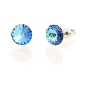 Náušnice Swarovski Crystals Bermuda Blue, 8 mm