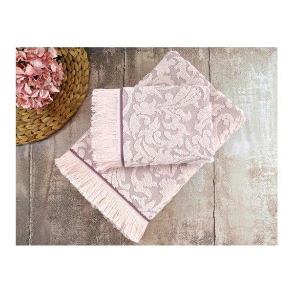 Sada 2 šeříkových ručníků Irya Home Royal, 50x90 cm