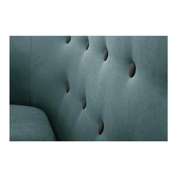 Tyrkysově modrá trojmístná pohovka Scandi by Stella Cadente Maison Constellation
