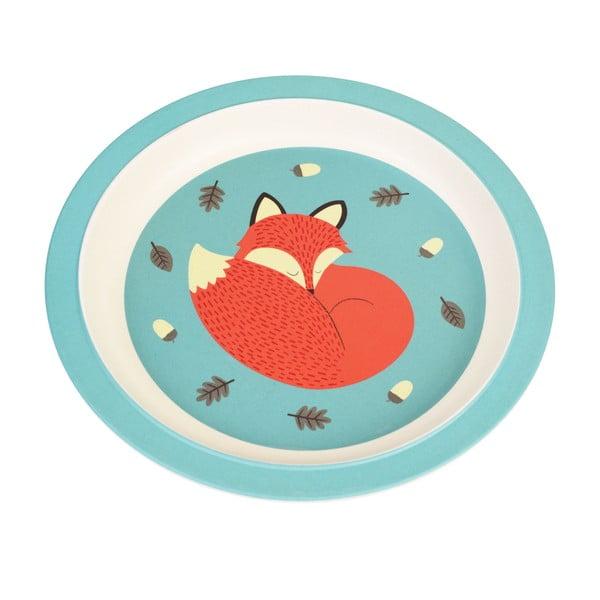 Rusty the Fox bambusz tányér gyerekeknek - Rex London